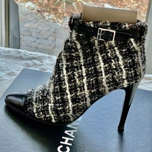 Chanel Classic Tweed Short Boots